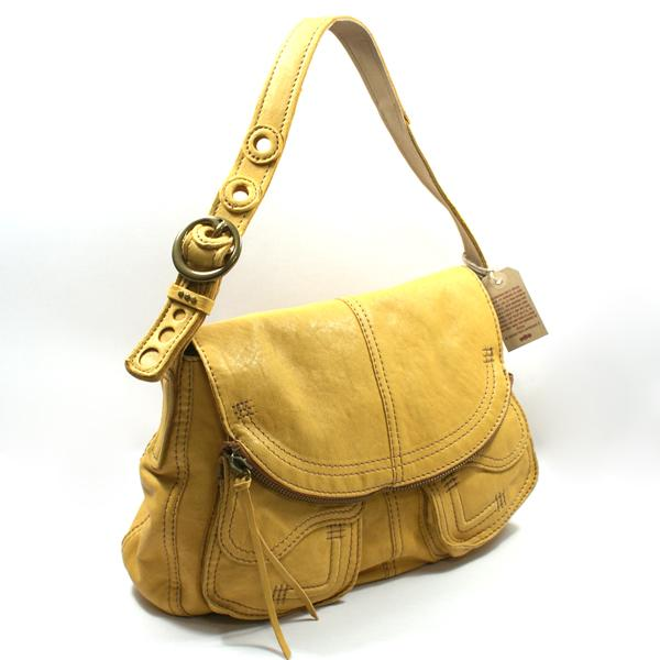 Lucky Brand Yellow Leather Bag
