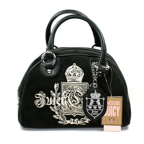 Juicy Couture Black Velour Bowling Bag Yhru0801 Juicy