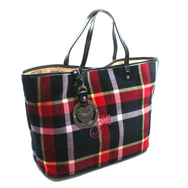 juicy couture plaid multi tote bag yhru2190 juicy couture yhru2190. Black Bedroom Furniture Sets. Home Design Ideas