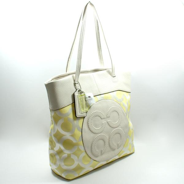 Coach Julia Opt Art Perry Tote Bag Sunflower 15013