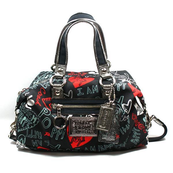 Coach Poppy Graffiti Lurex Satchel Bag 16200 Coach 16200
