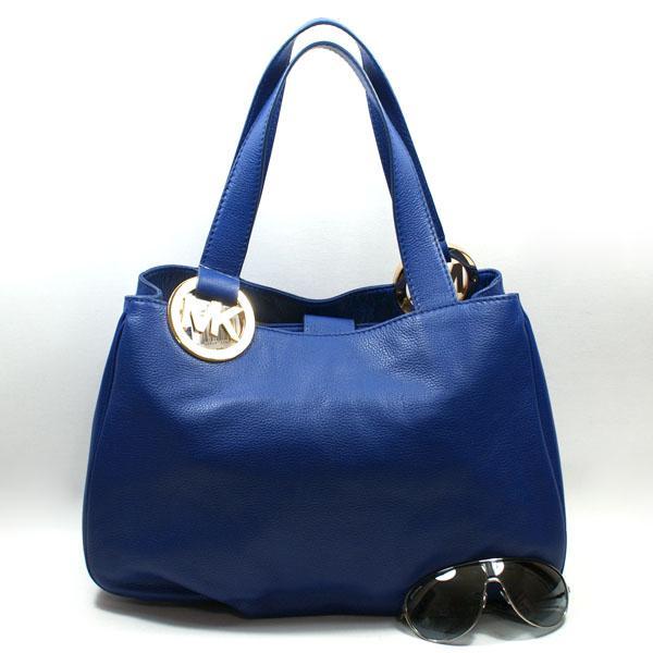 Home Michael Kors Fulton Cobalt Genuine Leather Tote Shoulder Bag