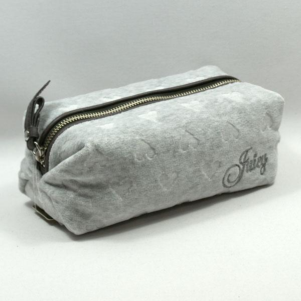 Juicy Couture Hth Cozy Heart Small Cosmetic Bag Grey