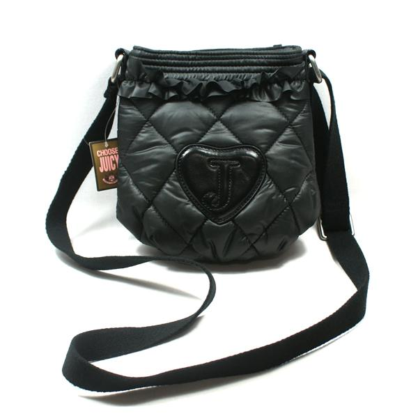 Juicy Couture Black Nylon Quilt Swing Bag  Crossbody Bag  YSRUS092 ... 27014dede