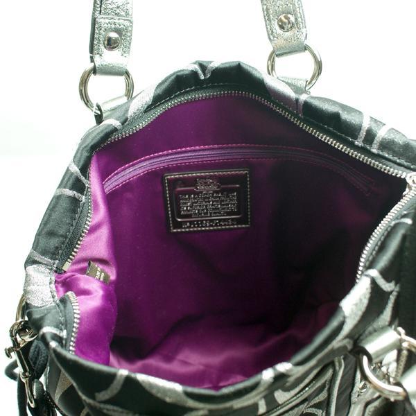 coach poppy signature sateen spotlight satchel shoulder bag black rh fashfires com