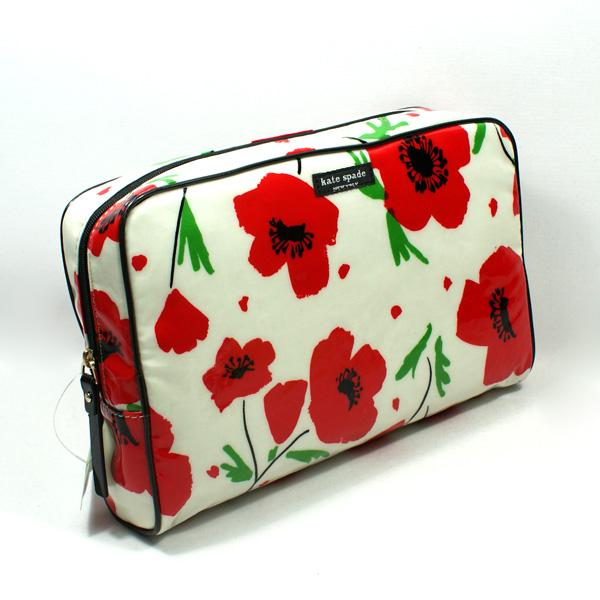 Kate Spade Large Henrietta Daycation Poppy Cosmetic Bag