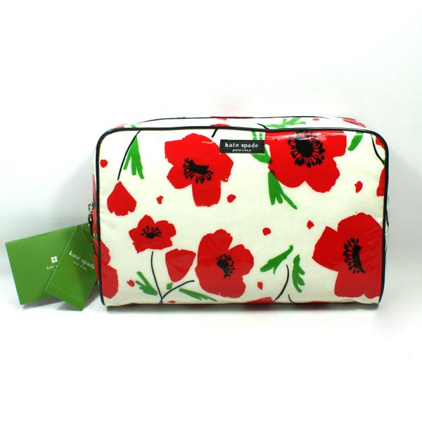 Kate Spade Large Henrietta Daycation Poppy Cosmetic Bag Wlru1133 Kate Spade Wlru1133
