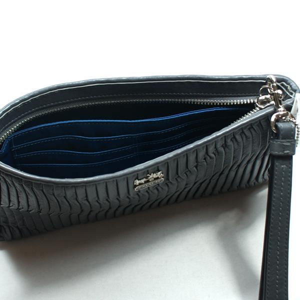 Coach Madison Gathered Leather Zip Clutch Bag 46914
