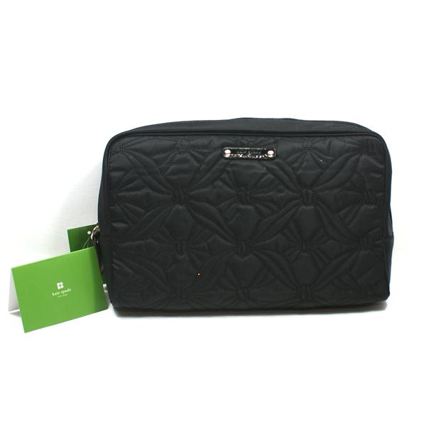 Kate Spade Large Henrietta Marivaux Black Cosmetic Bag