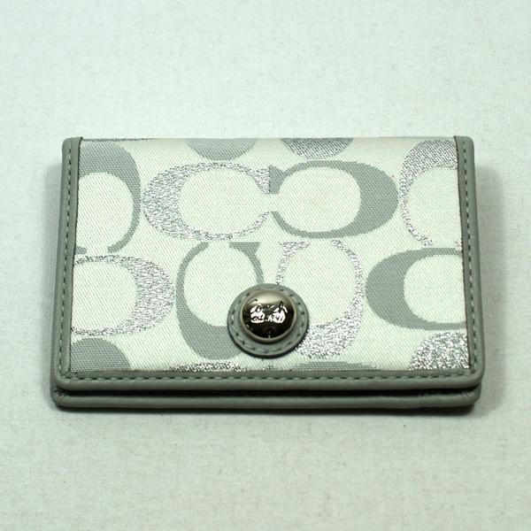 Coach 3 Cl Signature Card Case Credit Cards Holder 61109