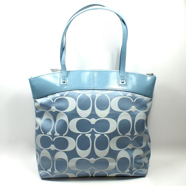 Home Coach Laura Signature Blue Tote Shoulder Bag