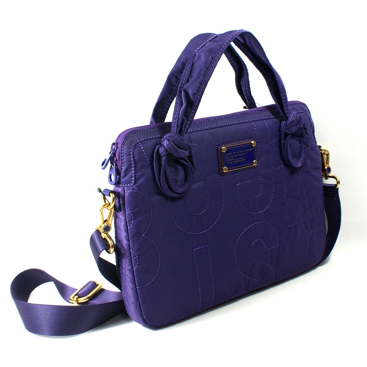 Home Marc By Marc Jacobs Pretty Bright Grape Nylon 13 Inch Laptop Bag ...