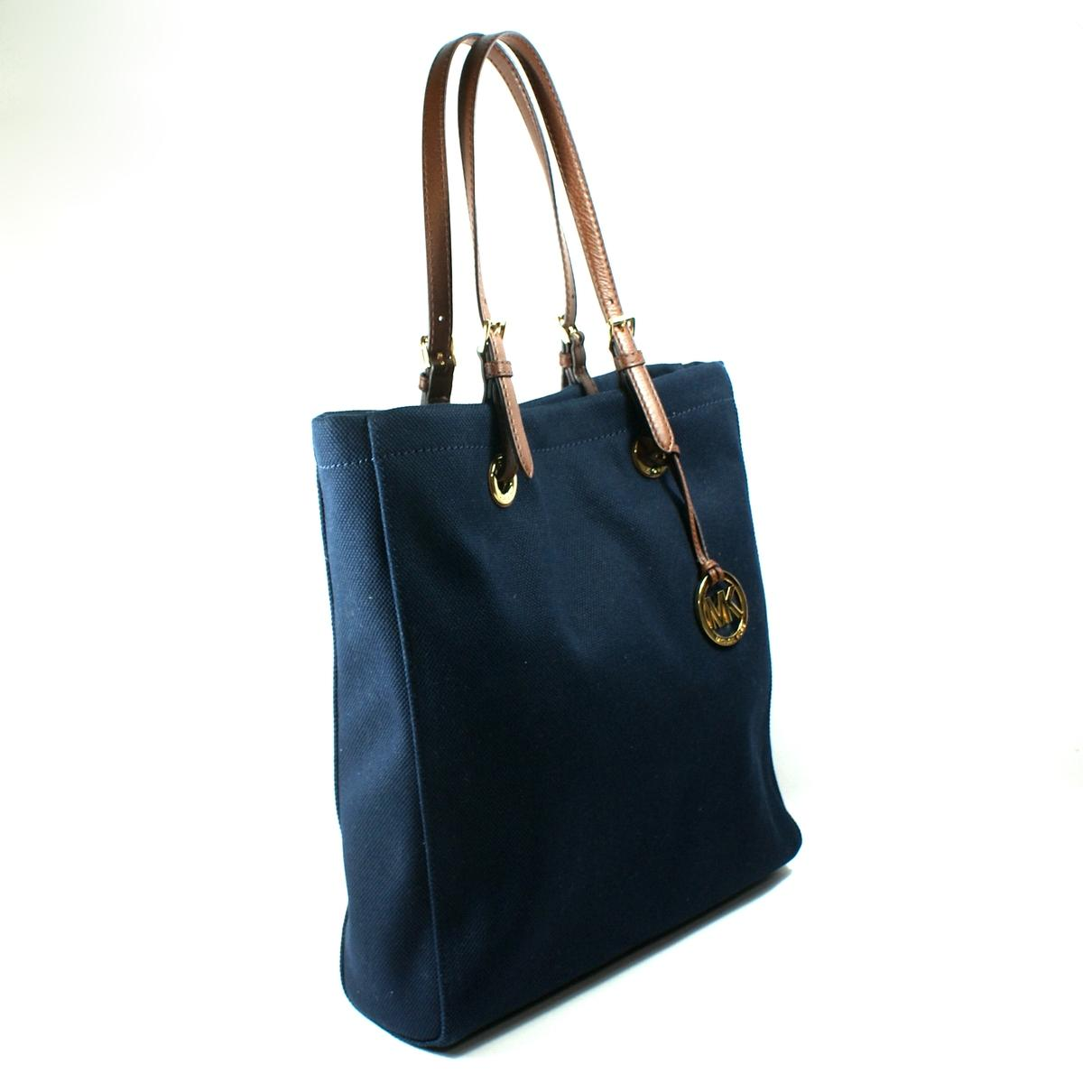 Michael Kors Navy Canvas Tote Bag Cttt