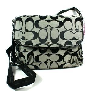 Coach Daisy Signature Messenger Bag Laptop Bag Black