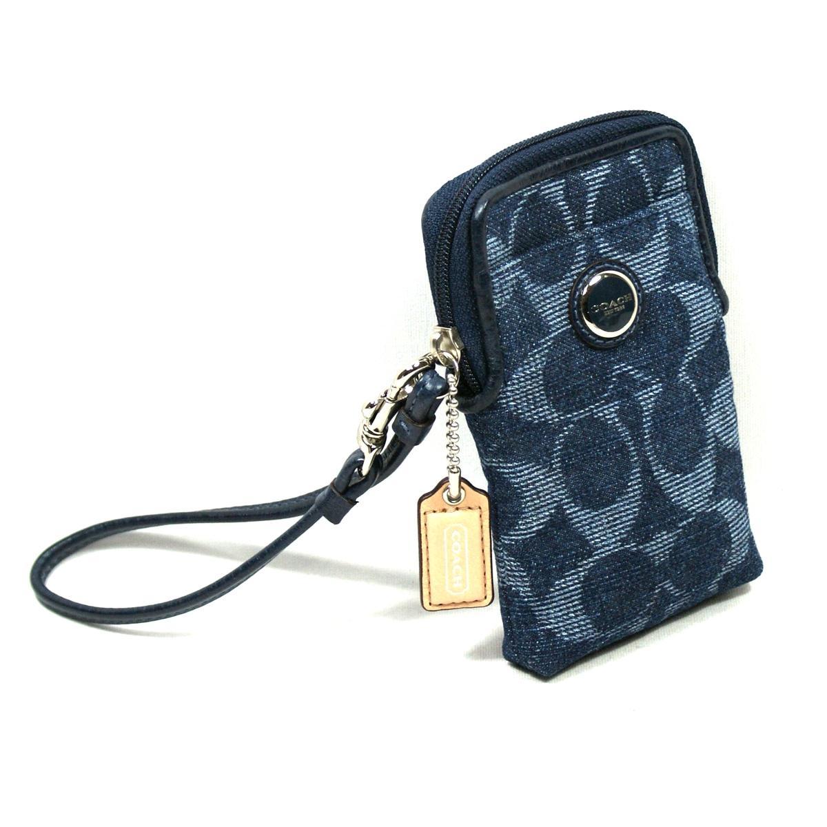 Coach Poppy Denim Universal Case/ Wristlet/ Iphone 4, 4S