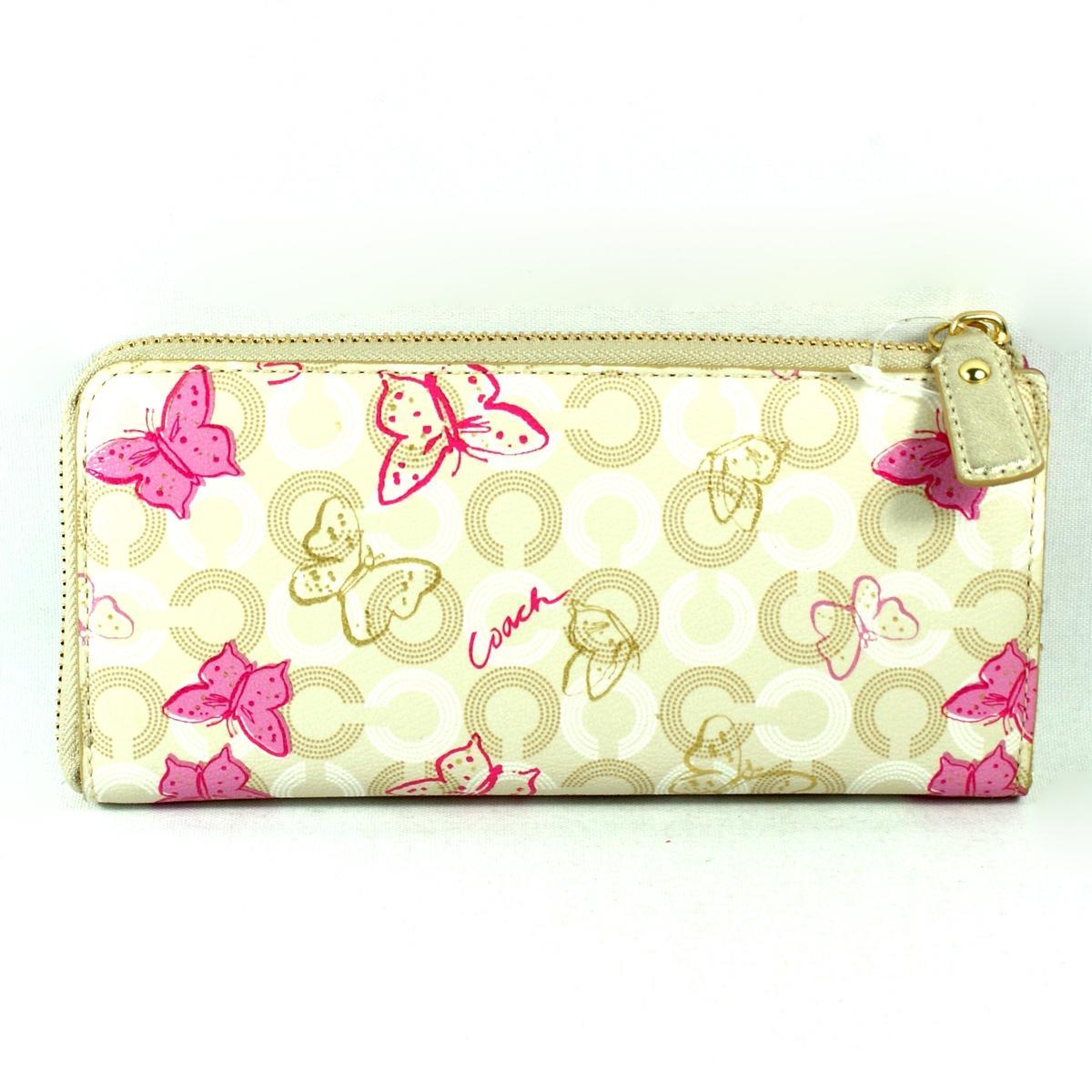 Coach Waverly Butterfly Slim Zip Wallet Clutch 47636