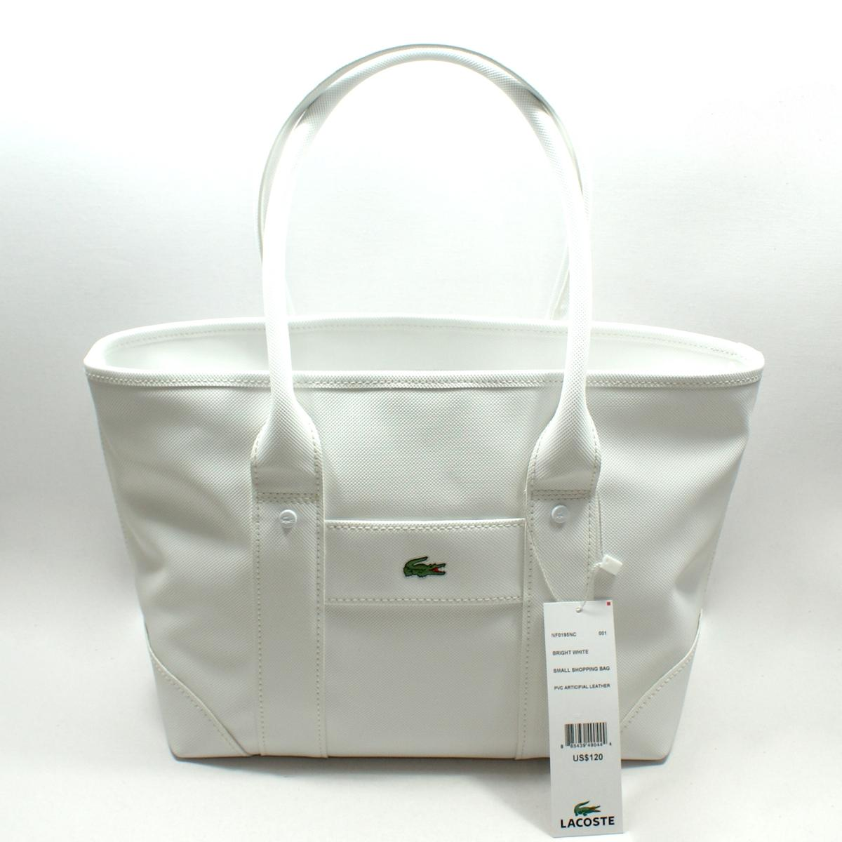 Lacoste Bright White Small Shopping Bag Tote Bag