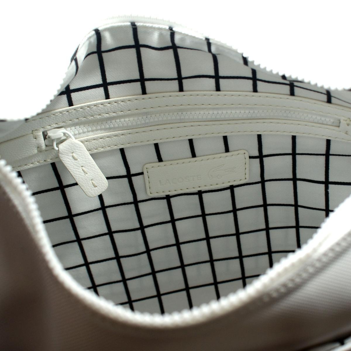 Lacoste Bright White Hobo Crossbody Bag Nf0192nc