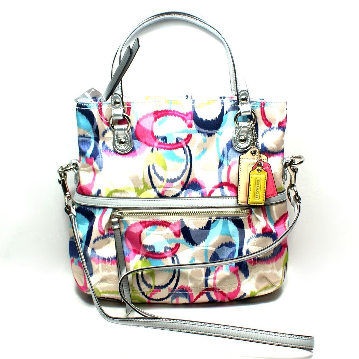 ... purchase coach poppy ikat signature foldover crossbody bag handbag  19873 9e151 7817e 979e933f5814d