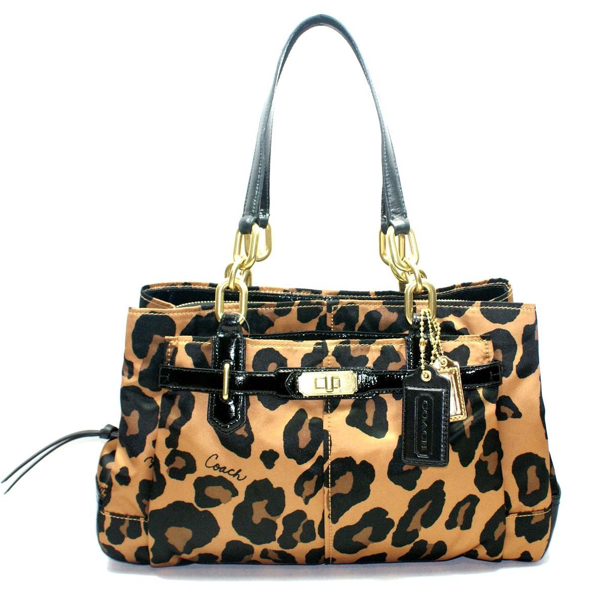 Coach Chelsea Oce Leopard Print Jayden Carryall Shoulder Bag 21084m Coach 21084m