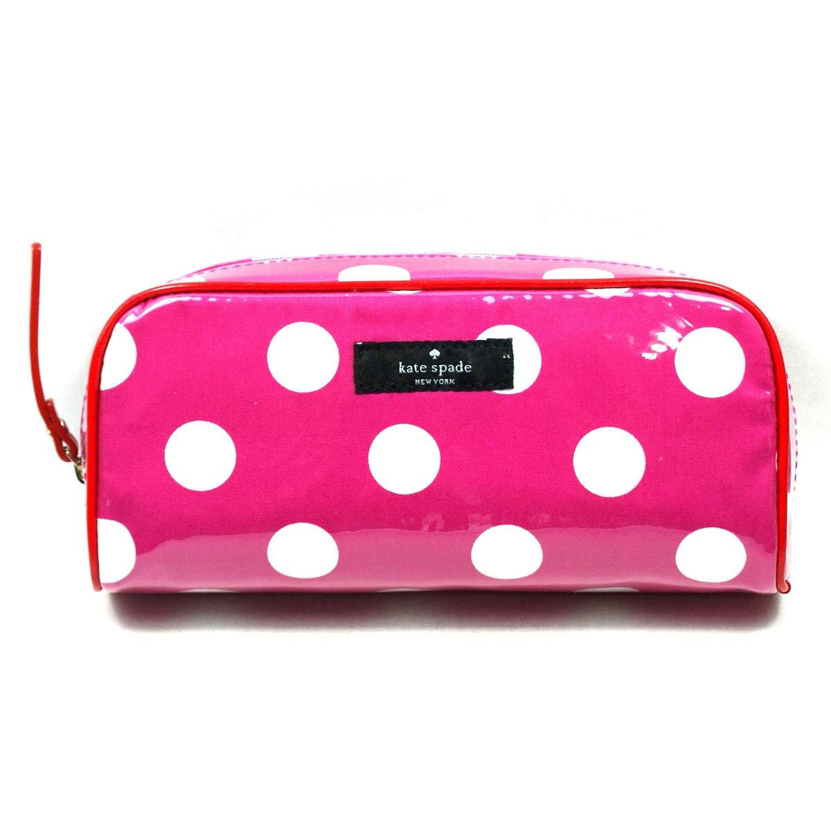Kate Spade Small Henrietta Patchin Place Spot Cosmetic Bag Pink # ...