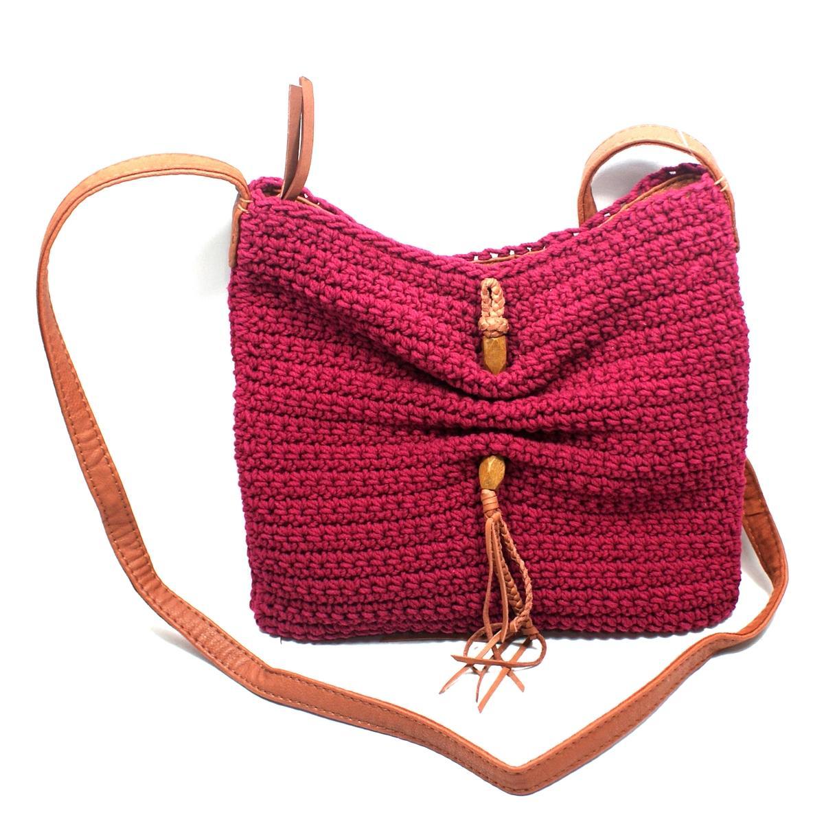 Lucky Brand Ojai Crochet Wine Swing Crossbody Bag