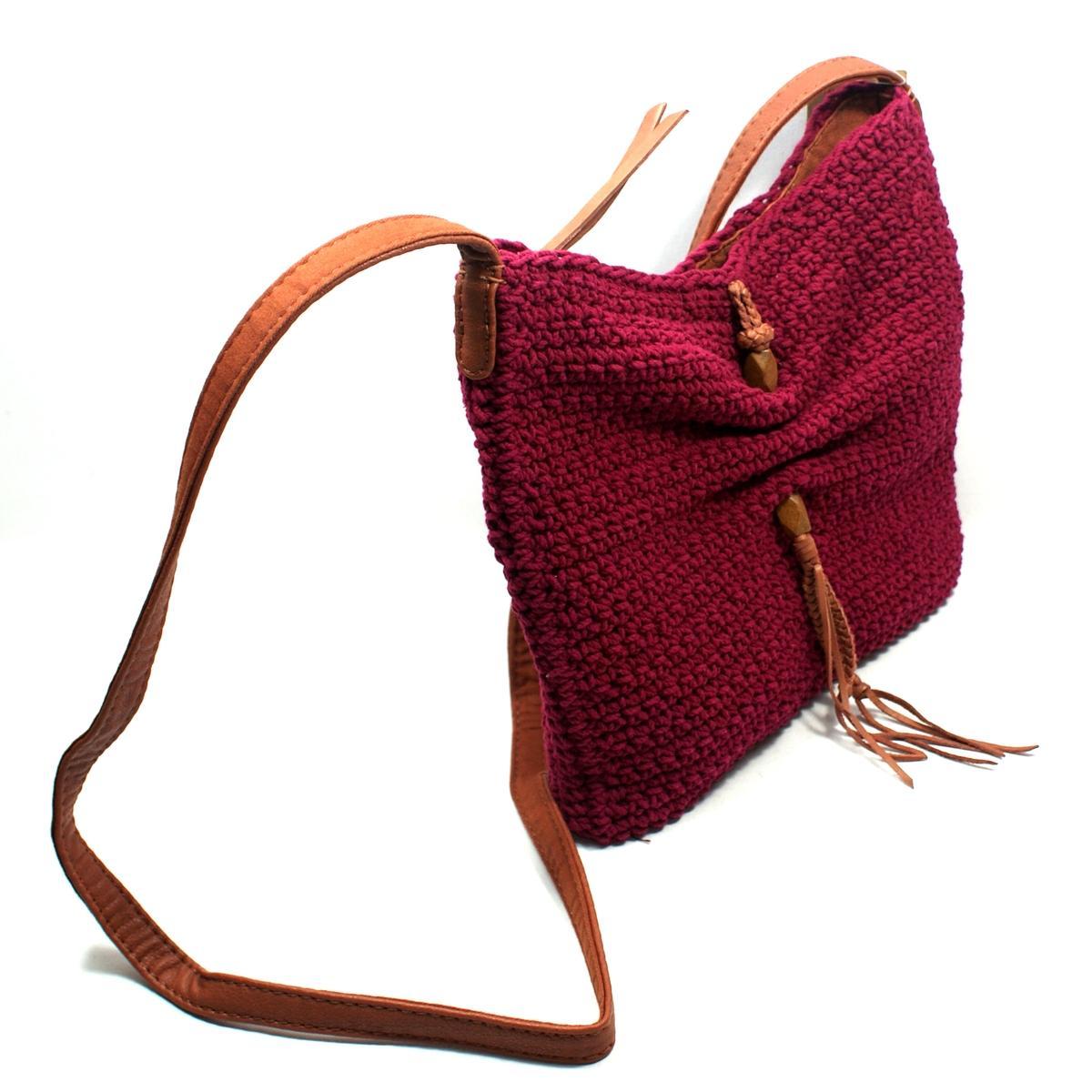 Crochet Crossbody Bag : Lucky Brand Ojai Crochet Wine Swing/ Crossbody Bag #HKW0067 Lucky ...