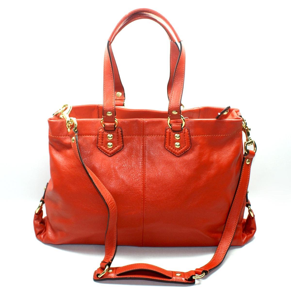 Coach Ashley Leather Carryall Handbag\/ Shoulder Bag #19243  Coach 19243