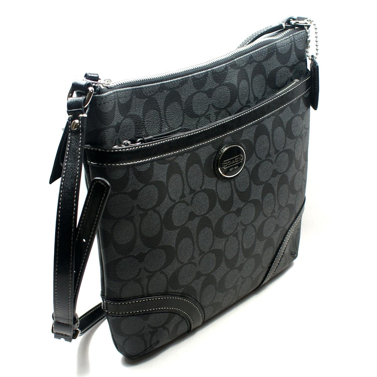 Coach Peyton Signature File Bag/ Cross Body Black #18926 : Coach 18926