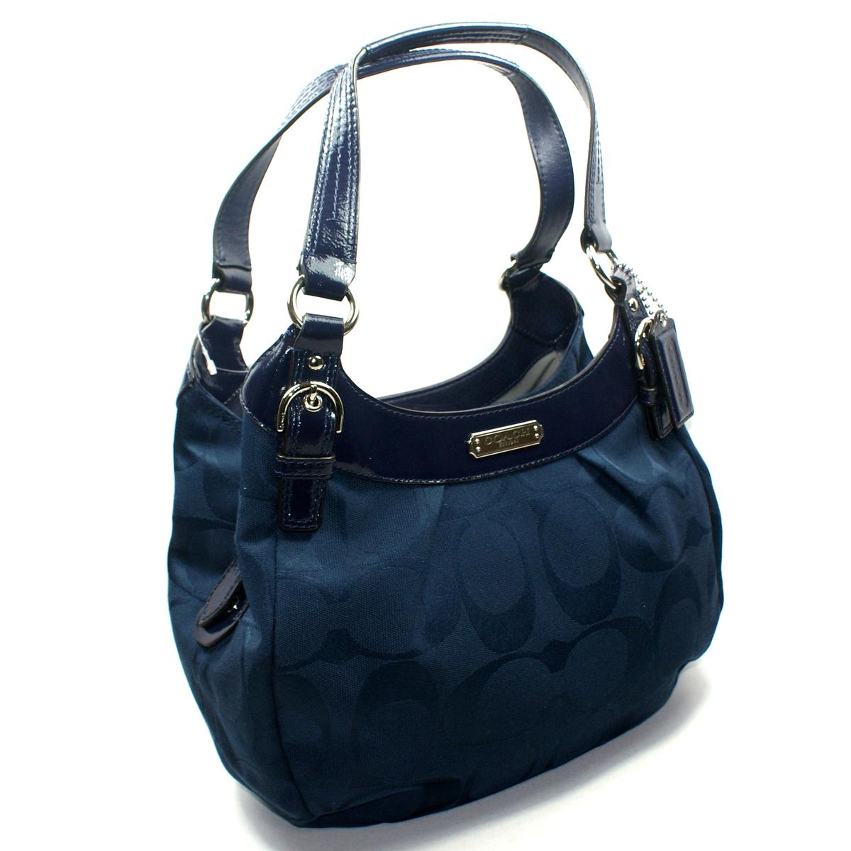 Coach Soho Signature Hobo Shoulder Bag Navy 19445