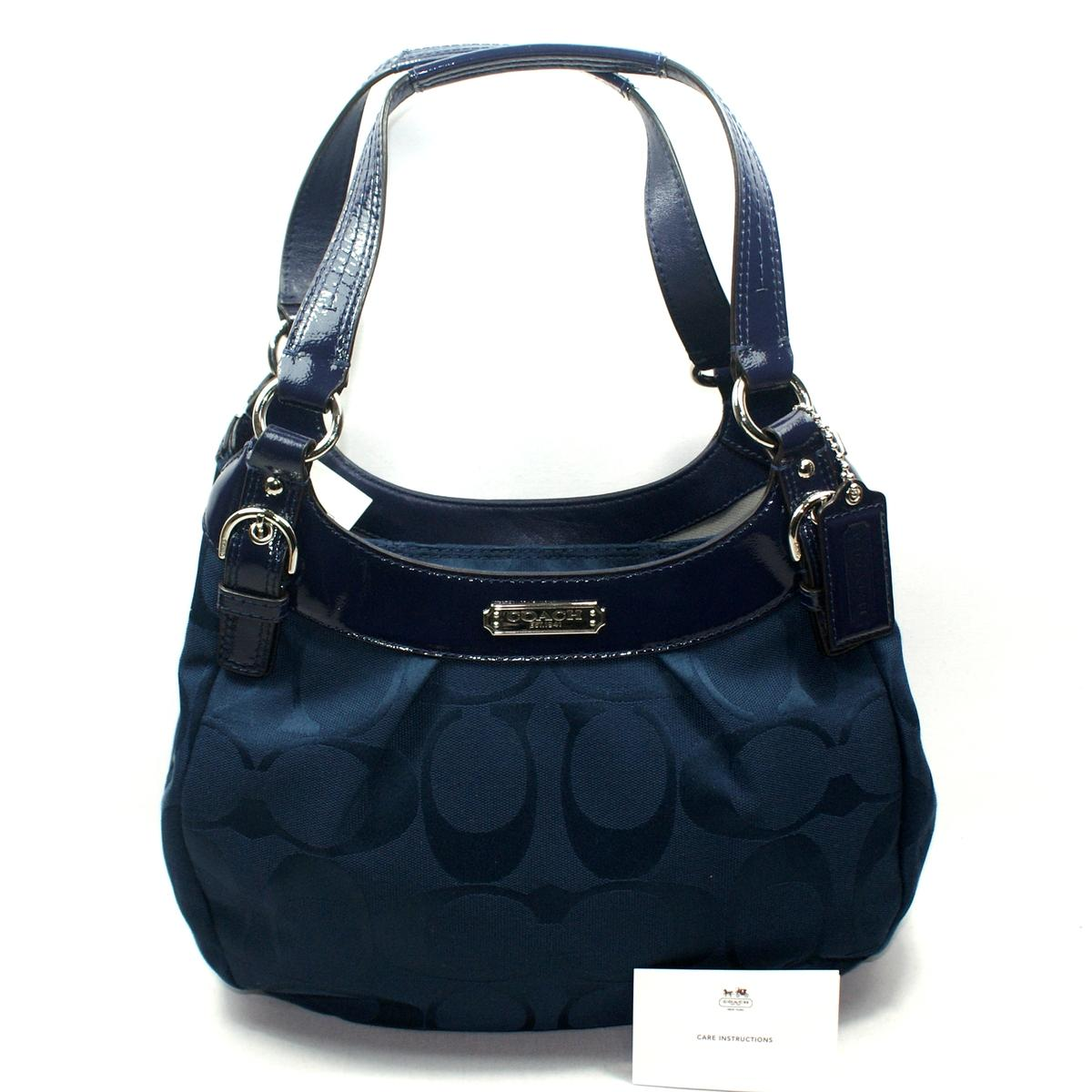 Home Coach Soho Signature Hobo Shoulder Bag Navy
