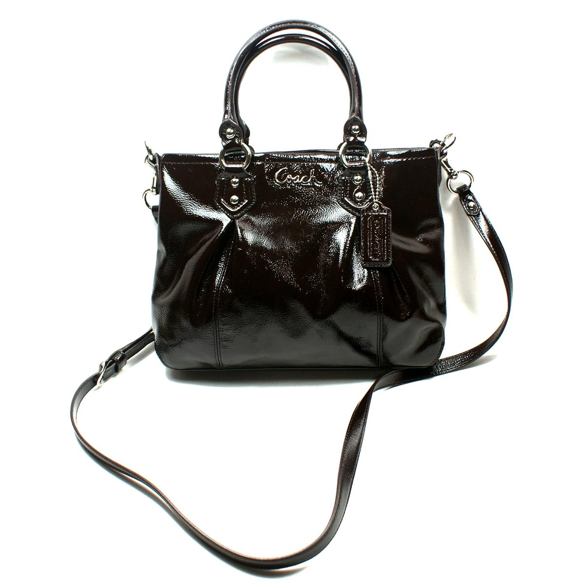 8a03d6b0f Home · Coach · Ashley Patent Leather Mini Tote/ Cross Body Bag. CLICK  THUMBNAIL TO ZOOM. Found ...