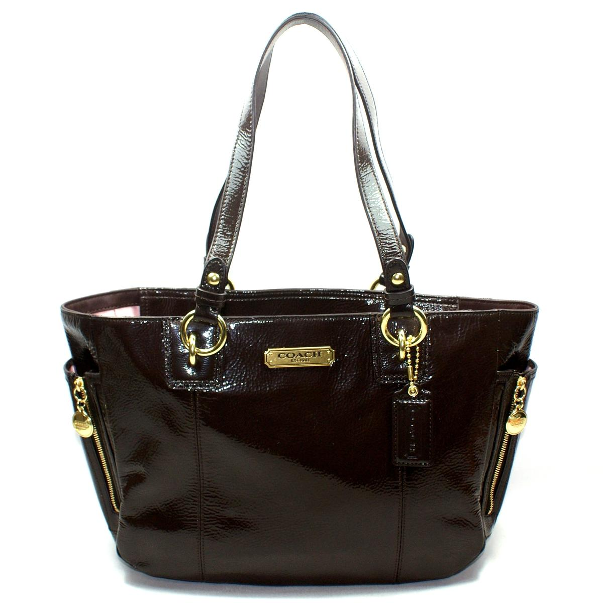 Coach Gallery Patent Leather Zip Tote Bag #20431 : Coach 20431