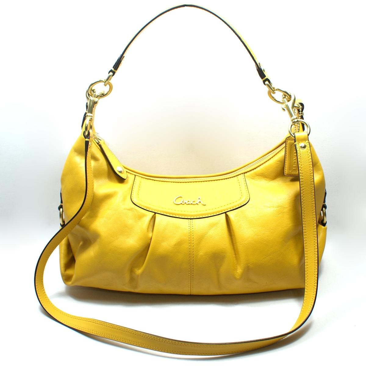 Coach Ashley Leather Convertible Hobo/ Cross Body Bag ...