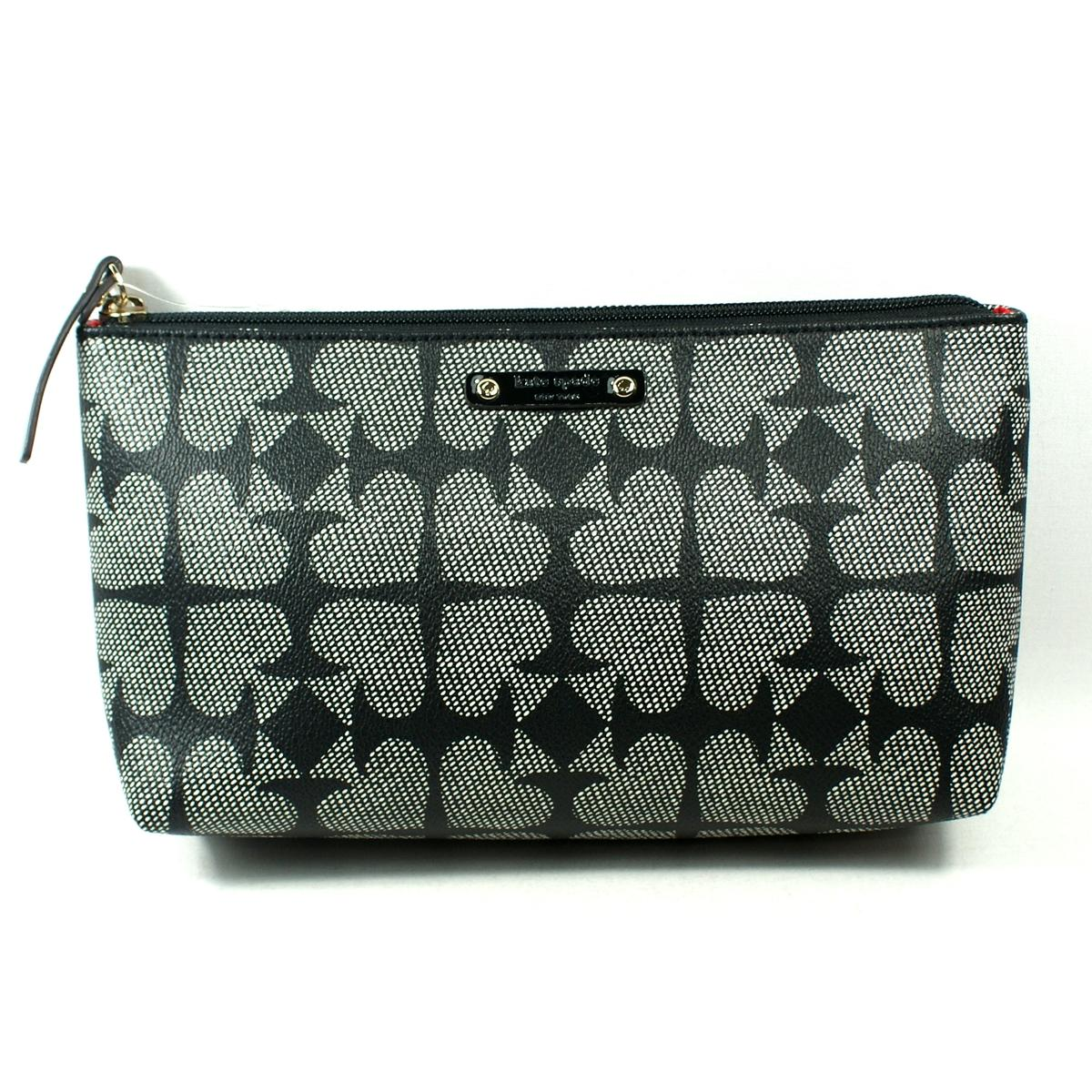 Kate Spade Shiloh Pebbled Ace Of Spades Pouch Cosmetic