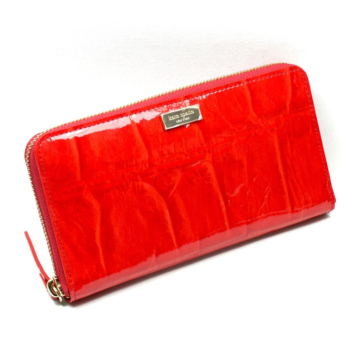 Kate Spade Neda Knightsbridge Red Zip Around Wallet