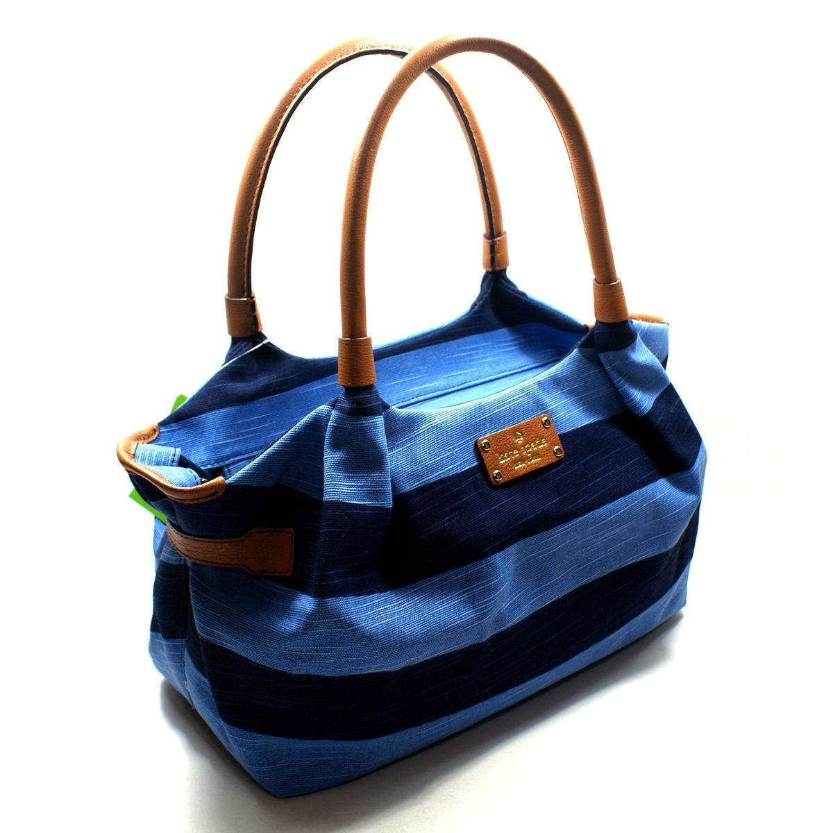 Kate Spade Stevie Jubilee Stripe Shoulder Bag Blue