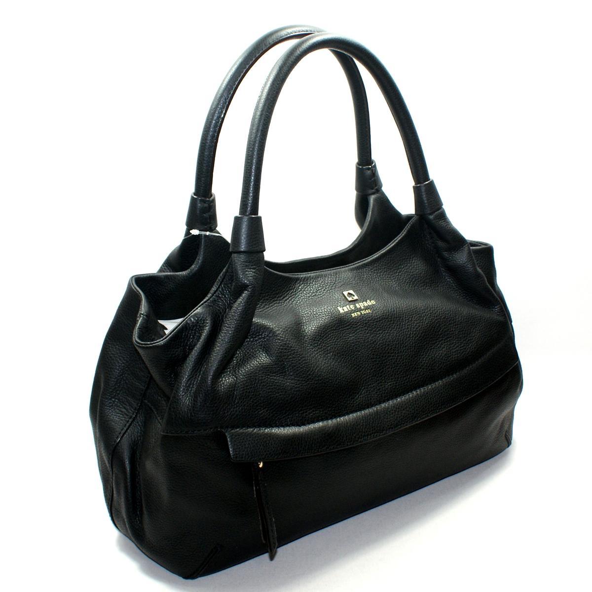 Kate Spade Stevie Grant Park Black Leather Shoulder Bag
