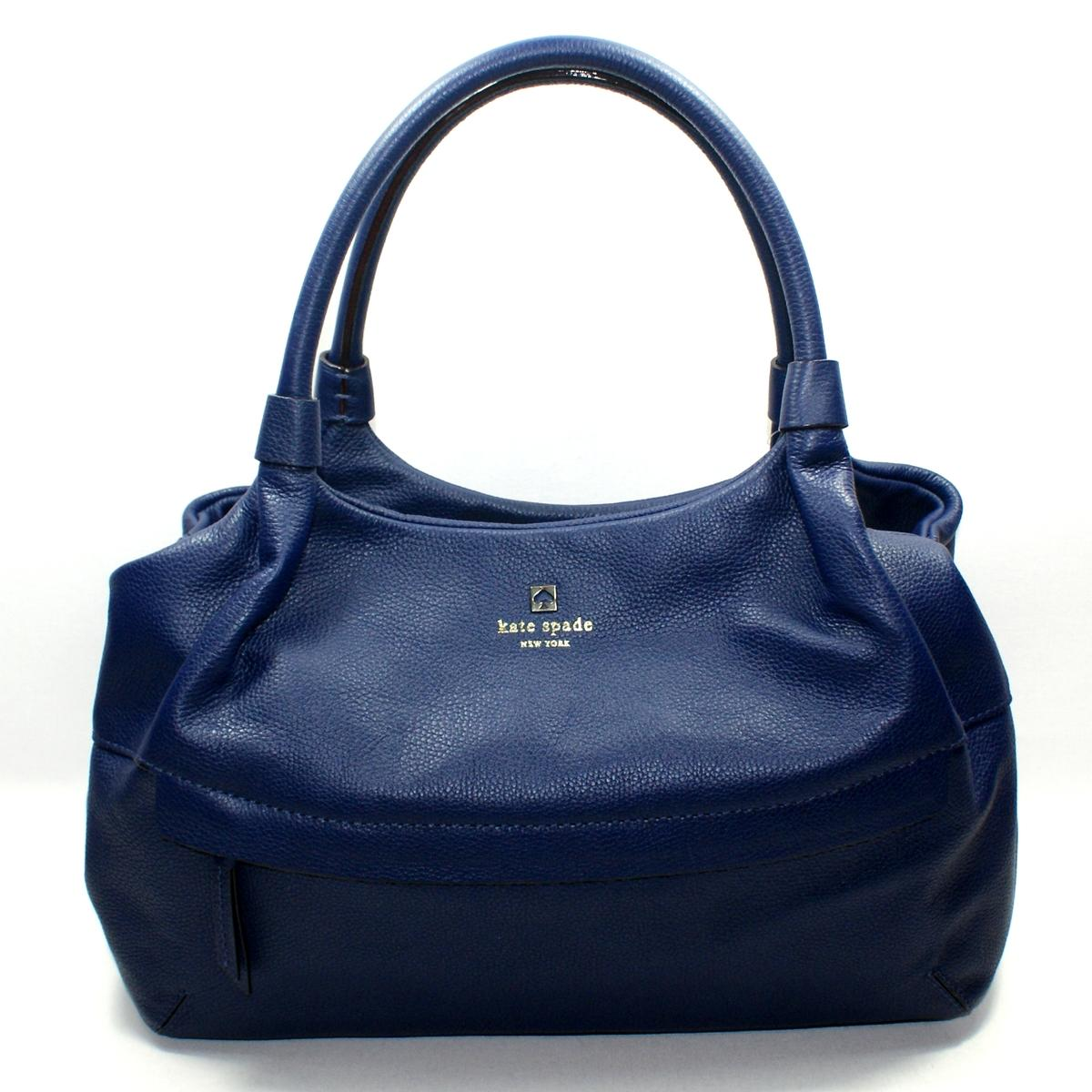 Home Kate Spade Stevie Grant Park Navy Blue Leather Shoulder Bag
