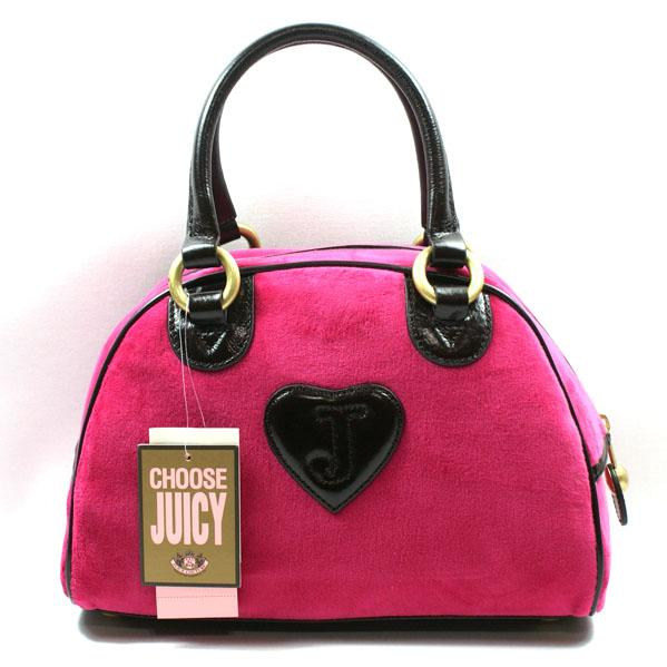 Juicy Couture Monaco Velour Velvet Small Bowling Bag