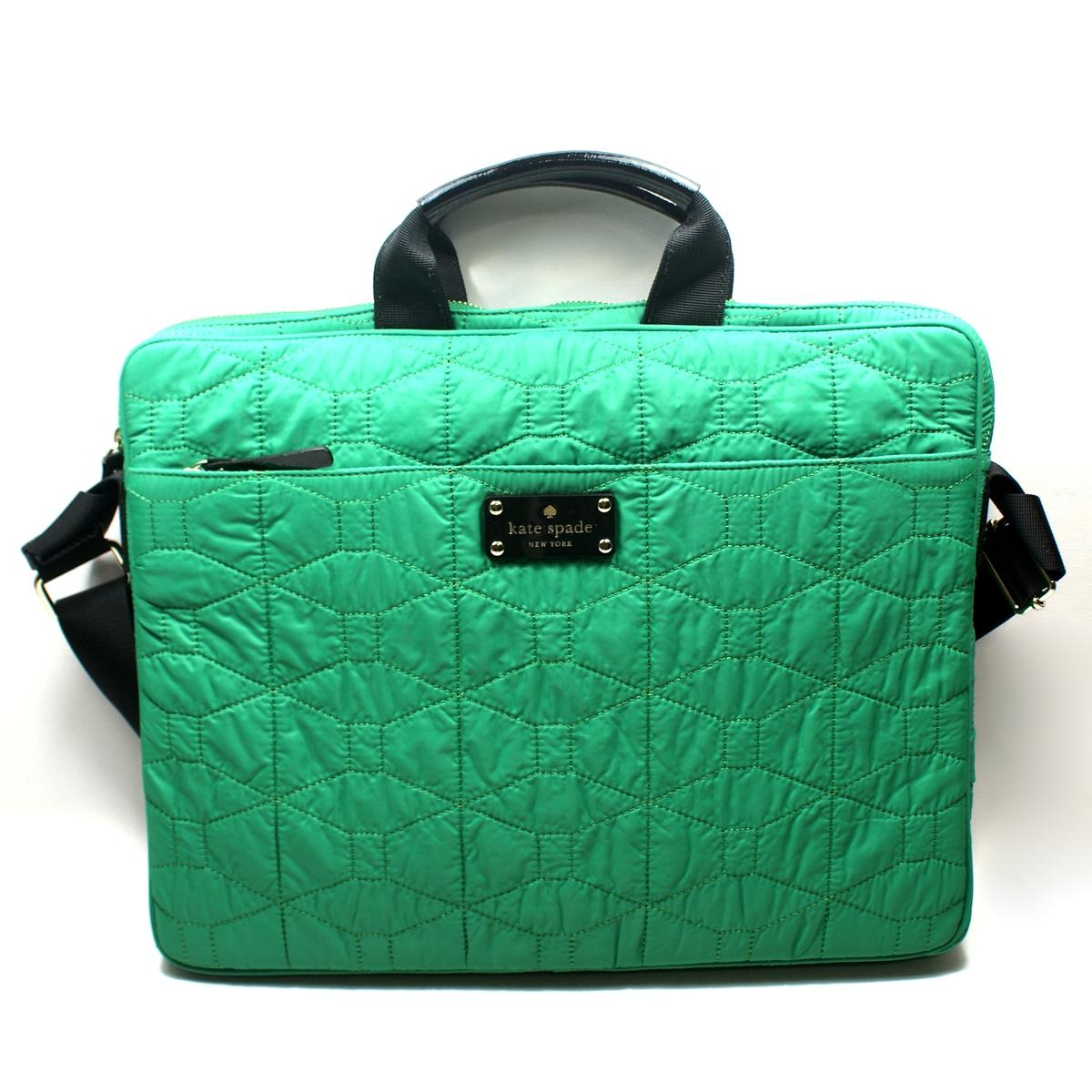 Kate Spade Chad 15 Signature Spade Quilted Emerald