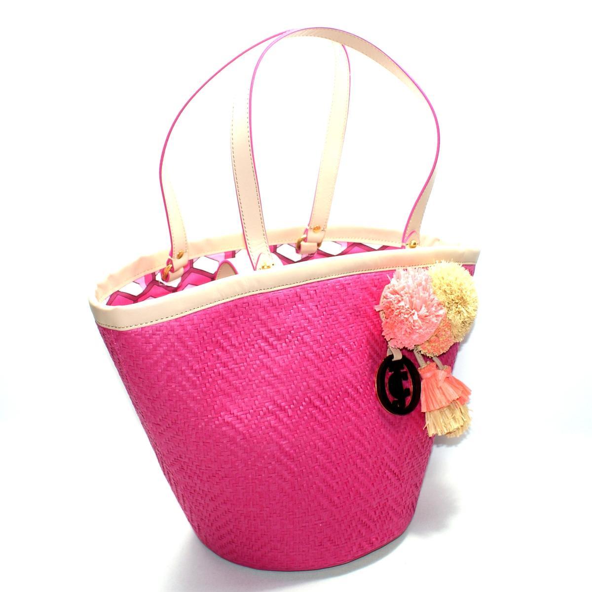 Juicy Couture Lynn The North Shore Straw Tote Bag #YHRU2918 : Juicy ...