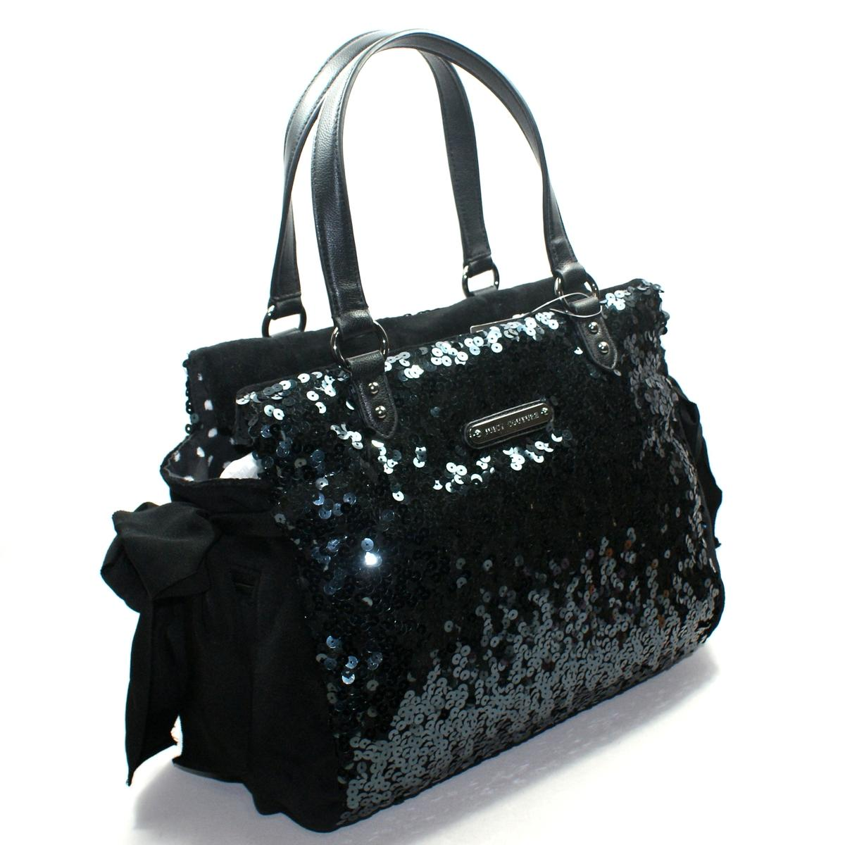 Large Black Sequin Shoulder Bag 78