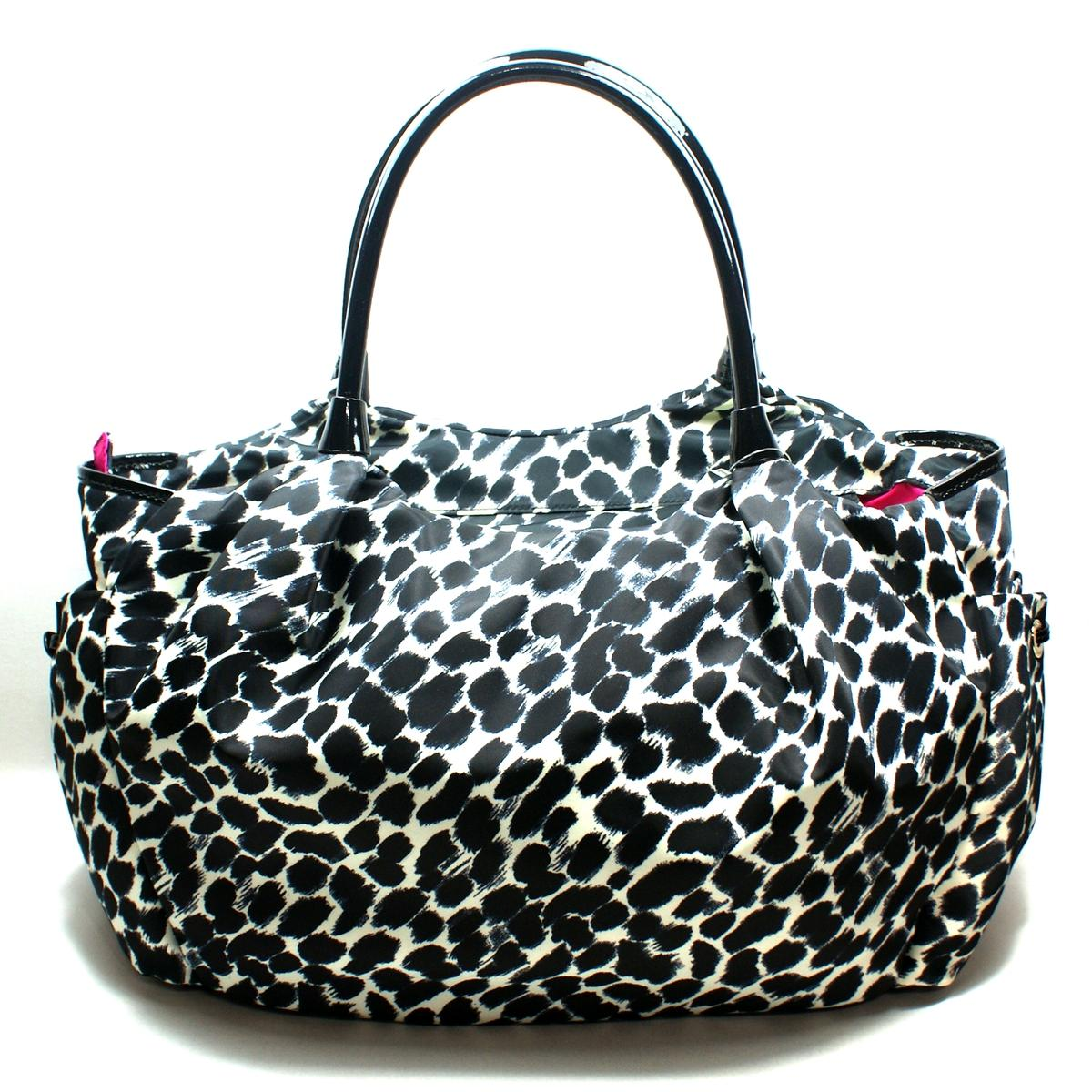 kate spade stevie baby bag lindenwood leopard diaper bag shoulder bag wkru1633 kate spade. Black Bedroom Furniture Sets. Home Design Ideas