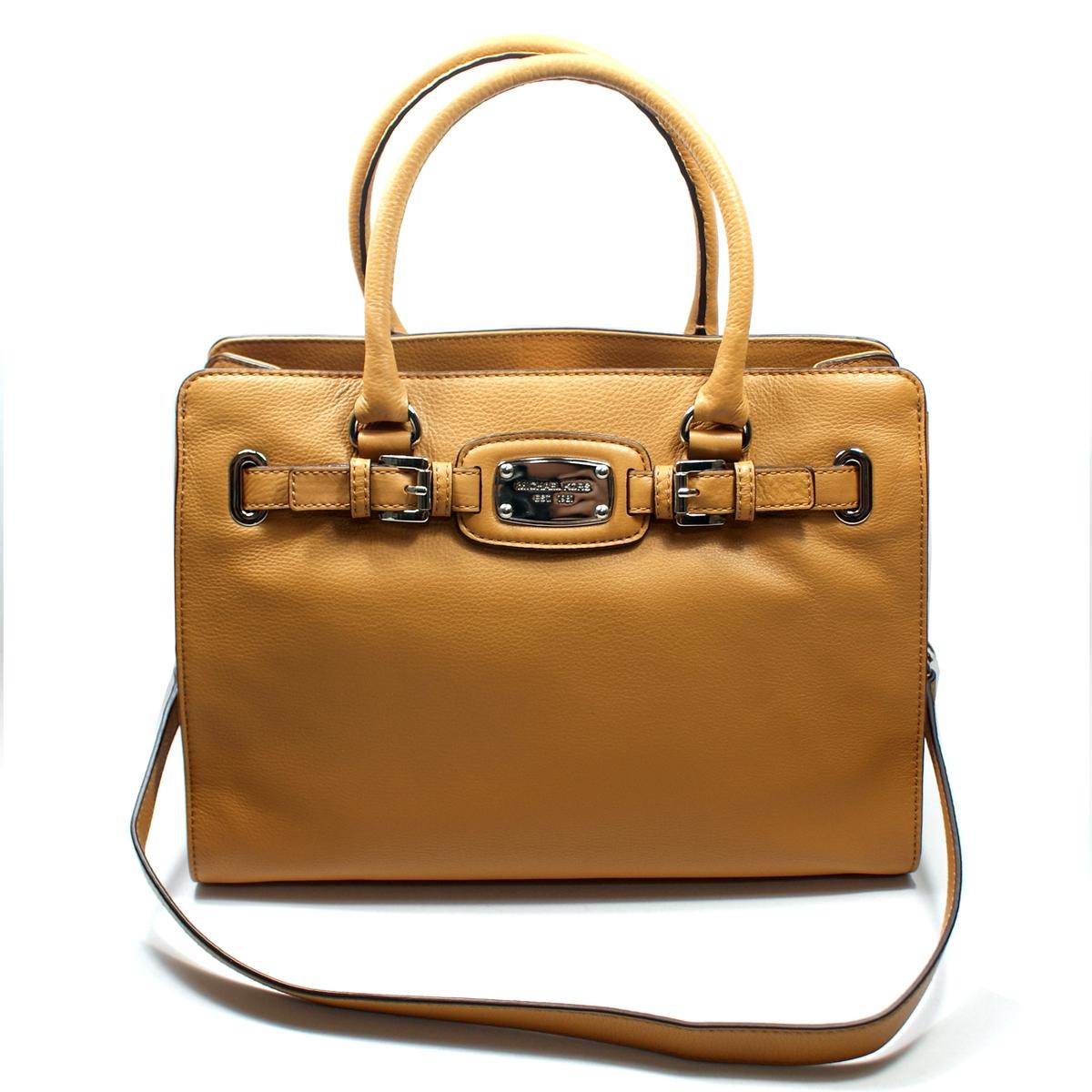 bbc7e0c4fa19 Home · Michael Kors · Hamilton East West Genuine Leather Tote Tan. CLICK  THUMBNAIL TO ZOOM. Found ...