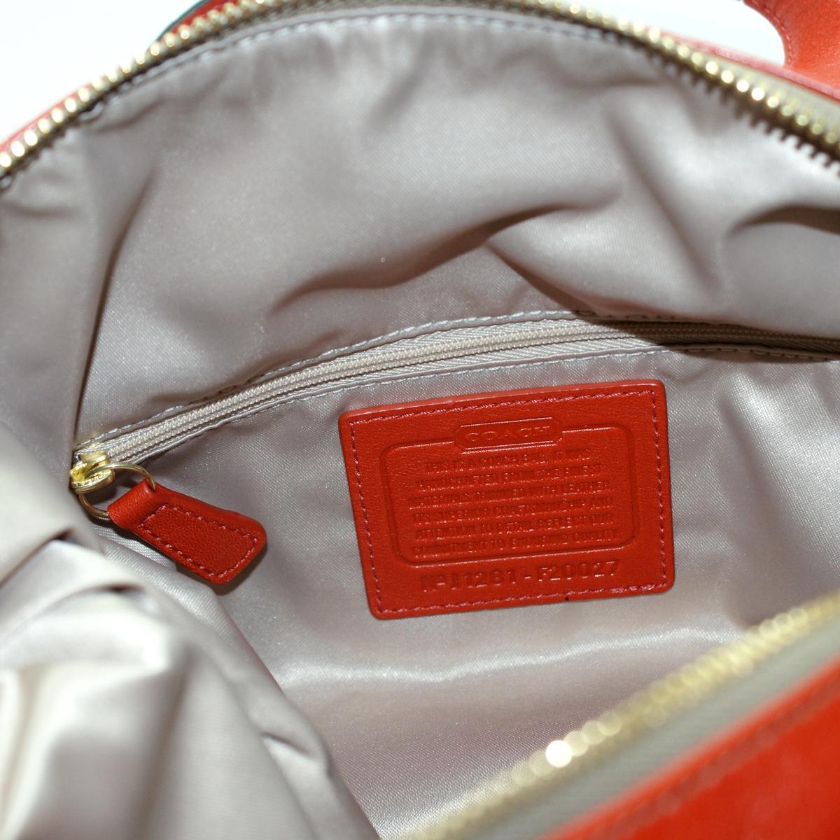 Coach Ashley Khaki Doted Opt Art Satchel Shoulder Bag