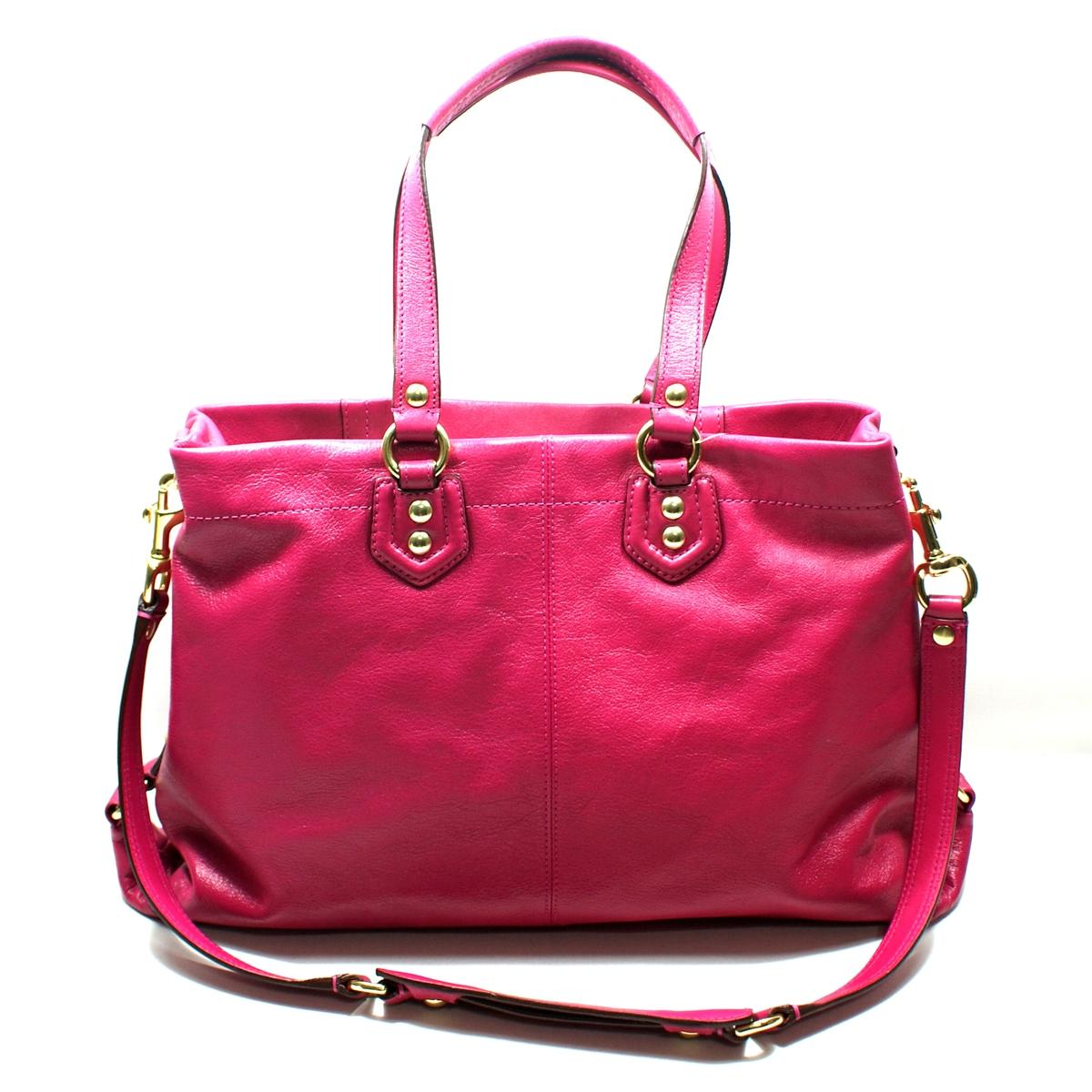 Coach Ashley Leather Carryall Handbag Shoulder Bag