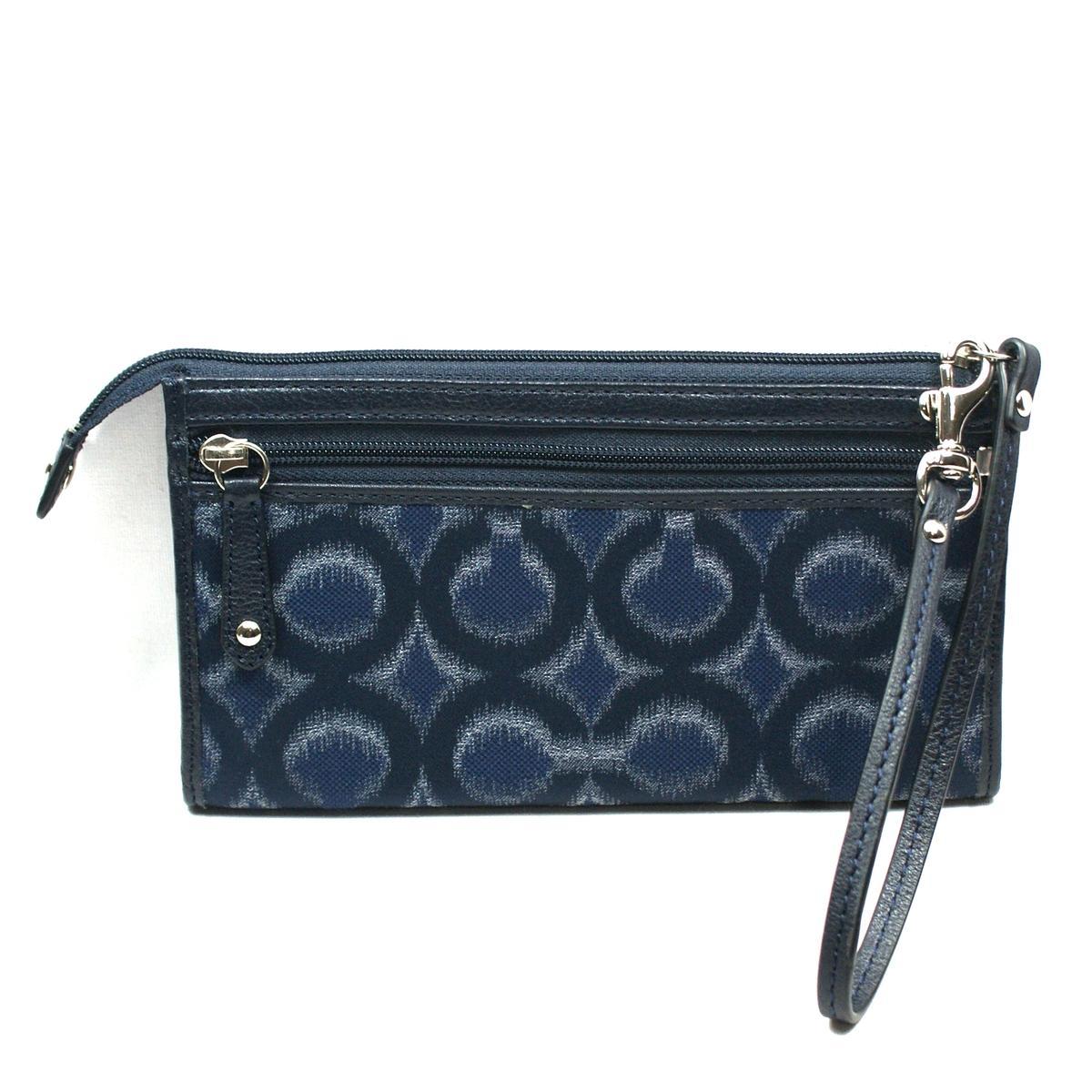 Coach Madison Opt Art Ikat Zippy Wristlet Wallet 48580