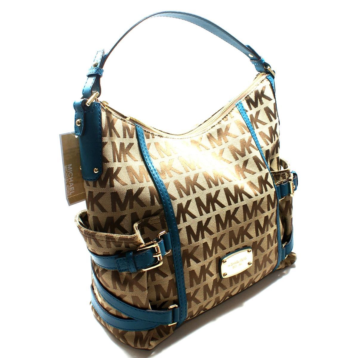 Michael Kors Gansevoort Mk Signature Jacquard Shoulder Bag