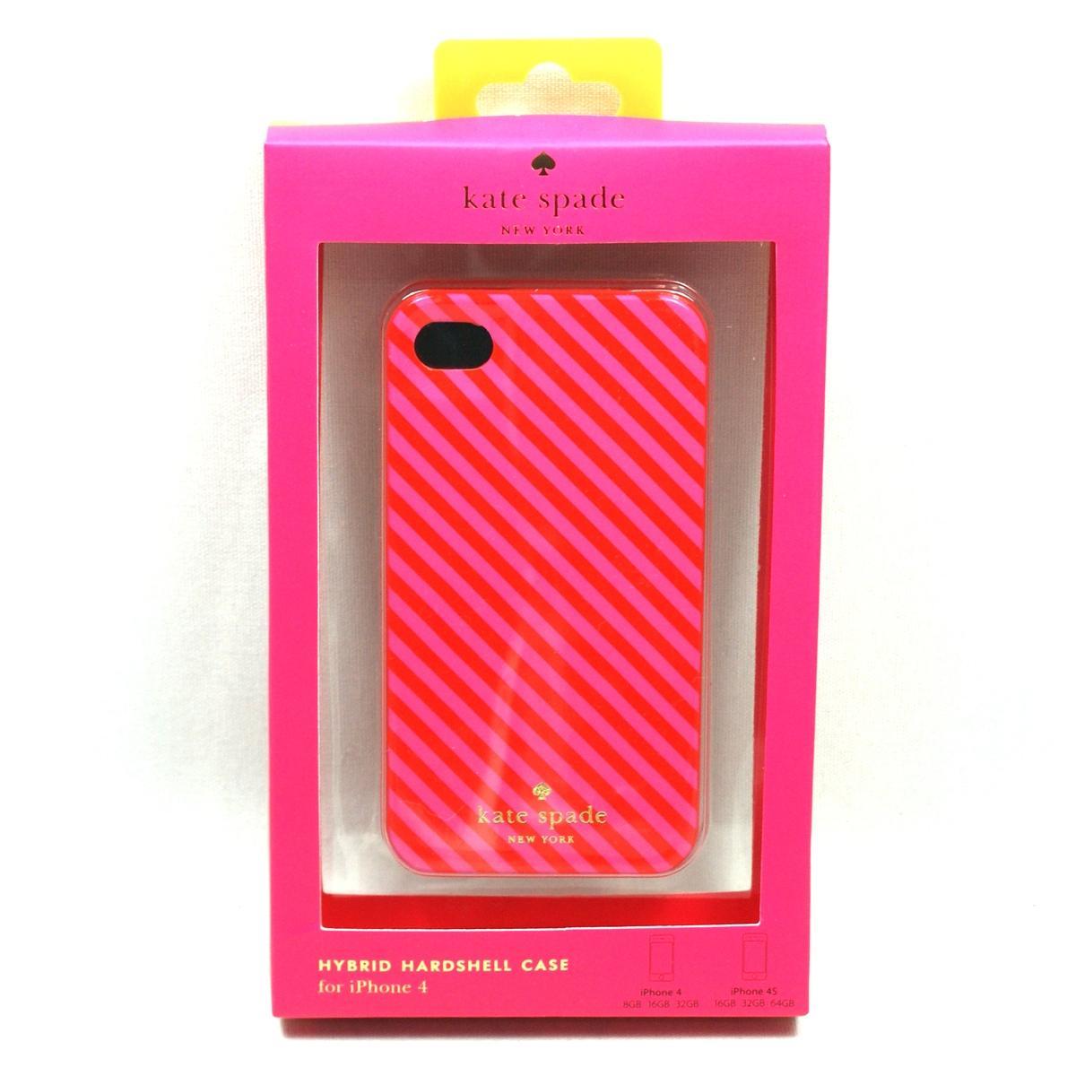 buy popular 4c91b 3d37f Kate Spade IPhone 4 Case Hybrid Hardshell Diangonal Stripe Resin For ...